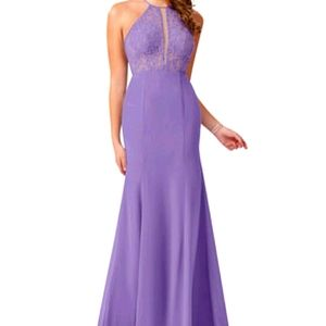 Stunning Halter Gown Braidmaid Dress Gala Zoey